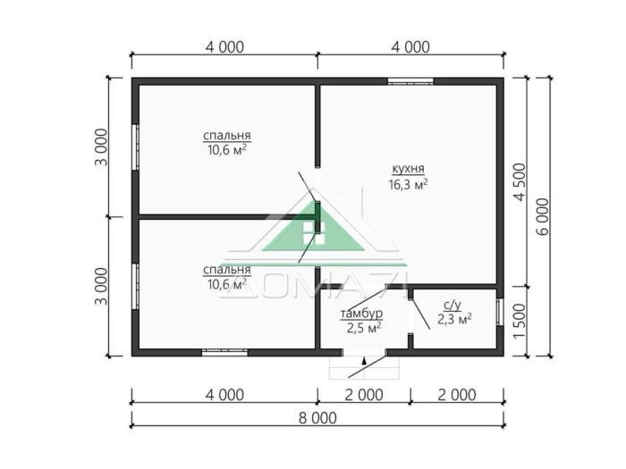 Каркасный дом 6х8 проект планировка