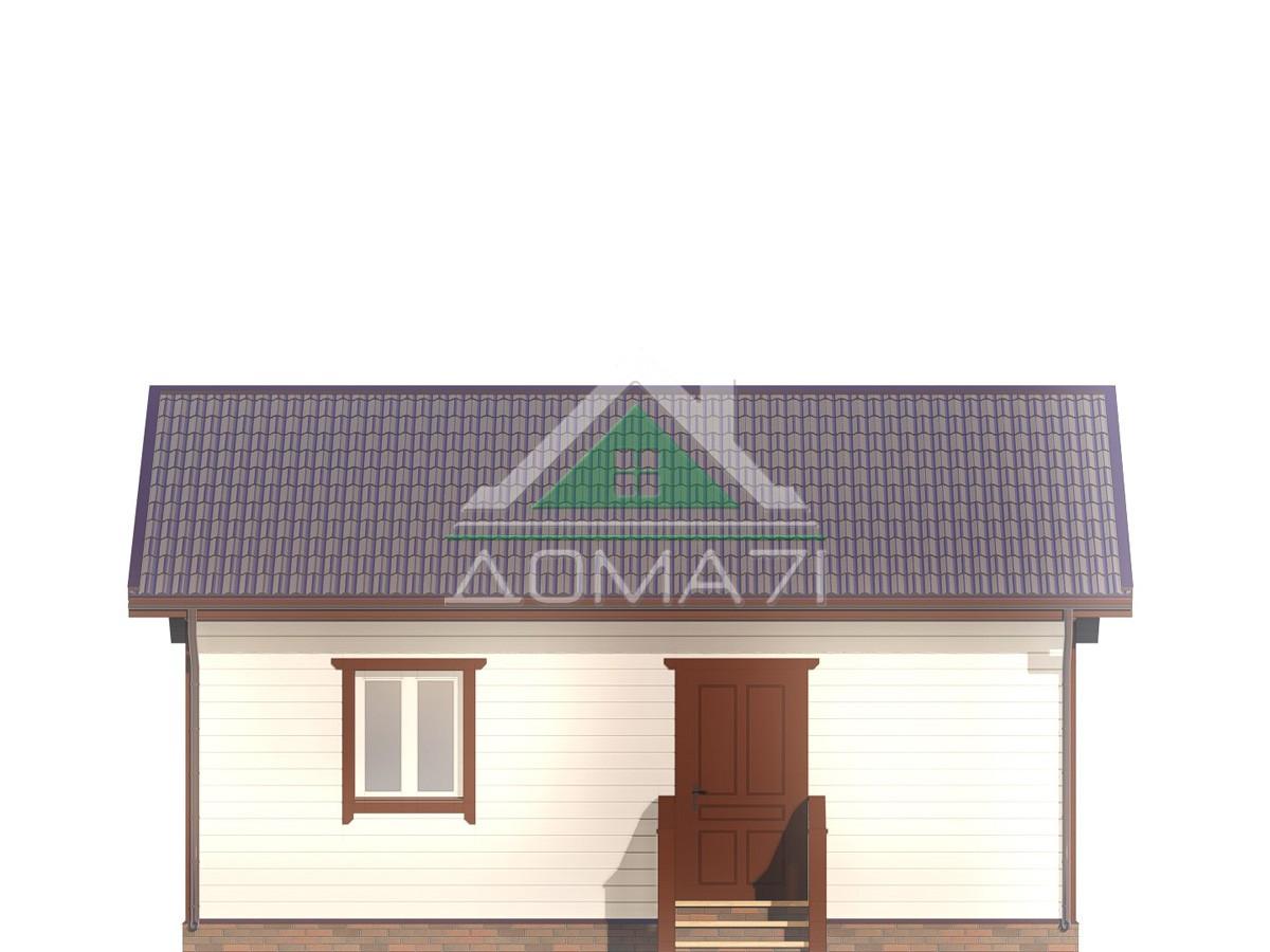 Каркасный дом 6х8 фасад