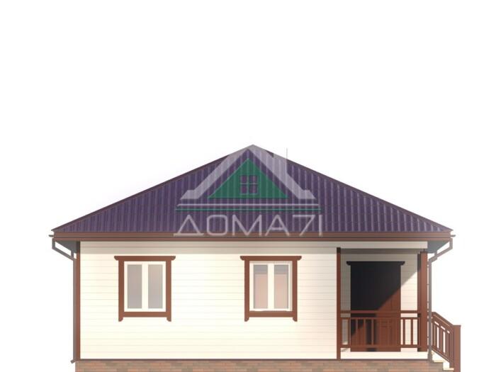 Проект каркасный дом 8х8 одноэтажный под ключ