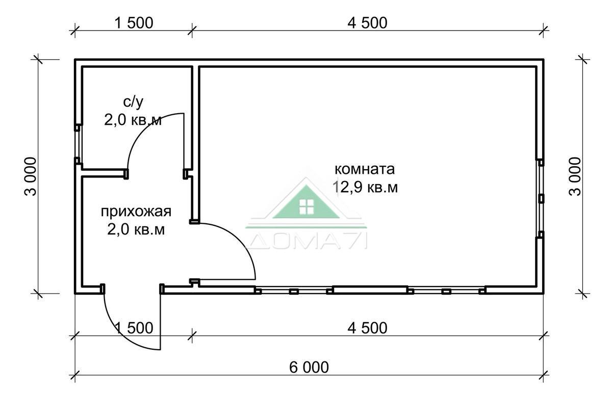 Садовый домик 3х6 купить