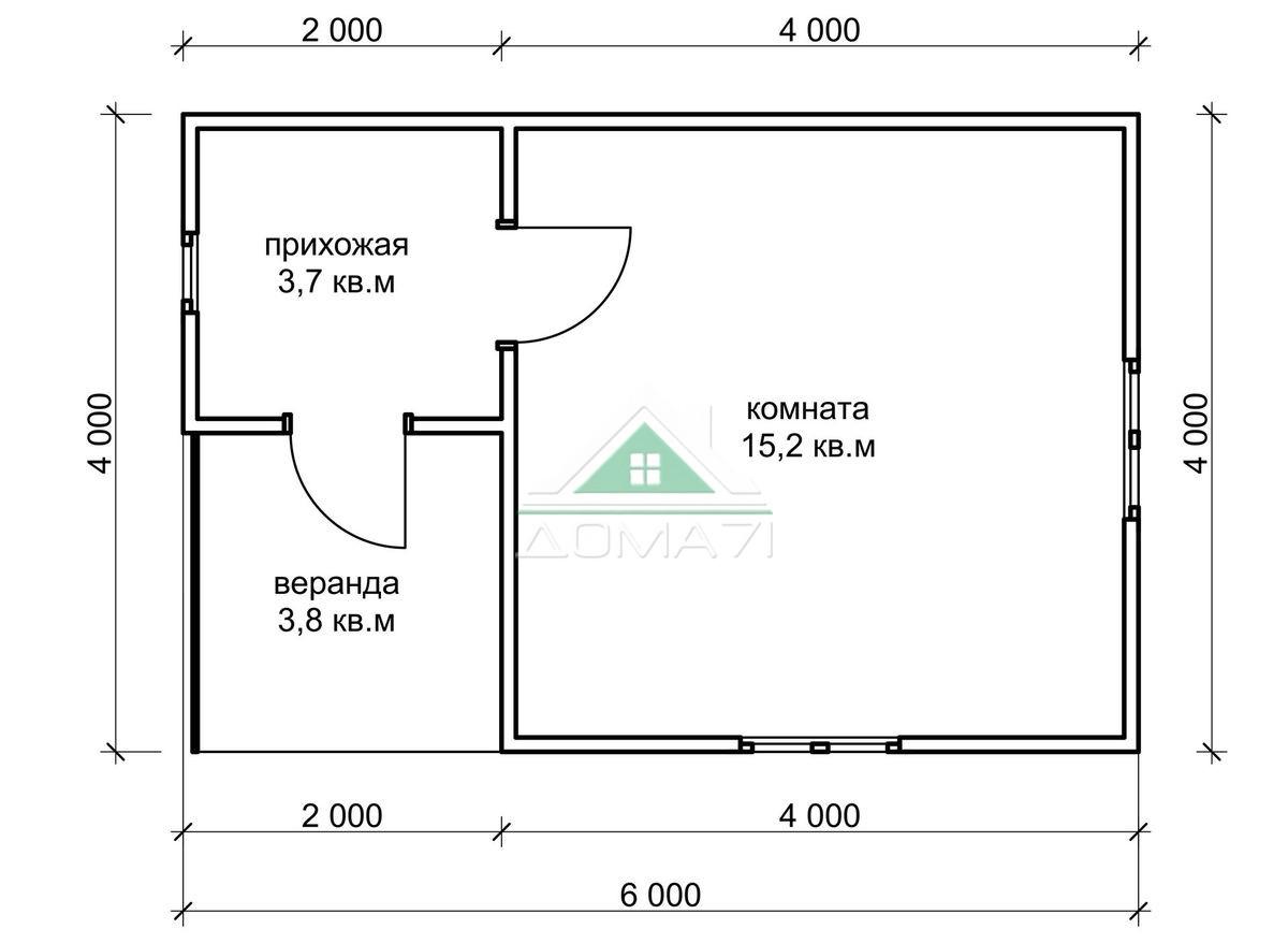 Садовый домик 4х6 купить в Туле