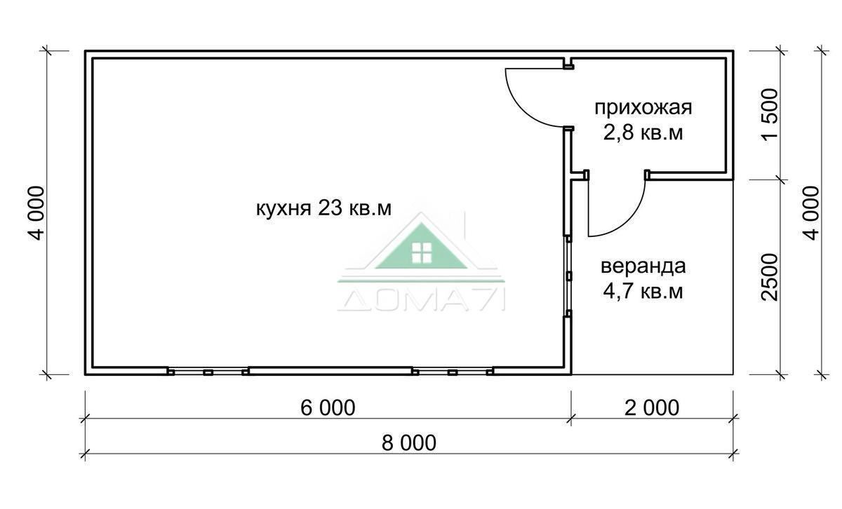 Садовый домик 4х8 купить в Туле