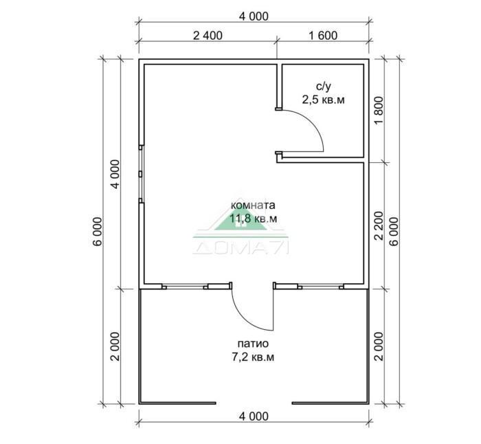 Садовый дом 4х6 недорого цена в Туле