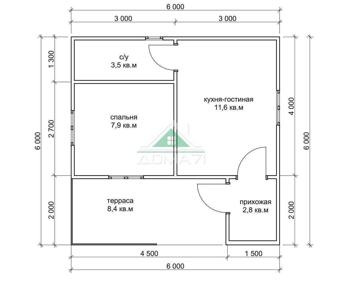 Садовый дачный дом 6х6 эконом в Туле