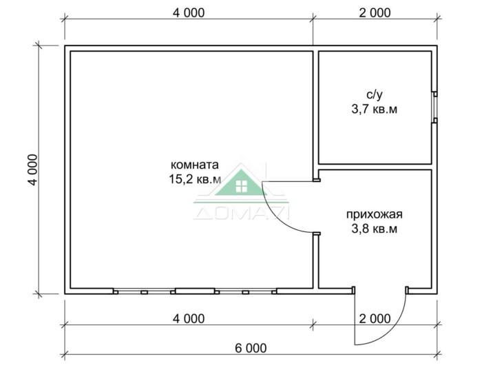 Садовый домик 4х6 эконом цена в Туле