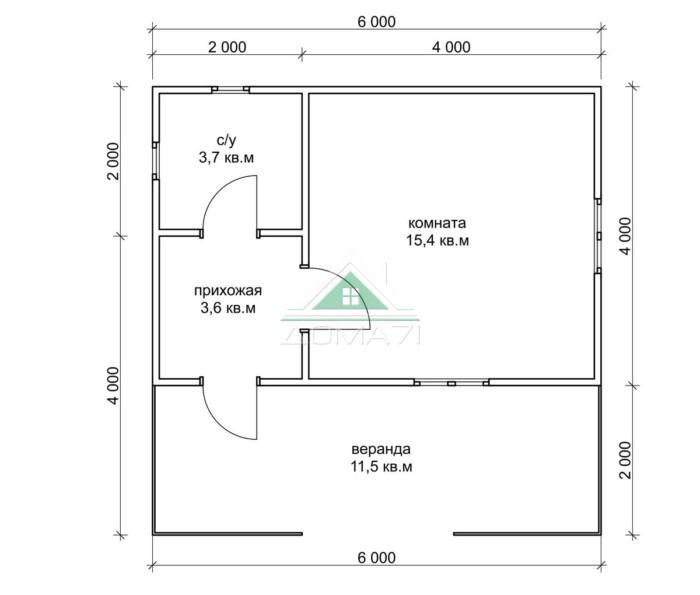 Садовый домик 6х6 недорого один этаж