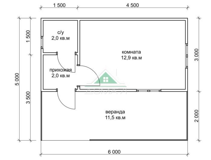 Садовый домик 5х6 цена недорого