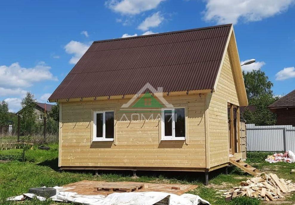 Каркасный дачный дом 6х6,5